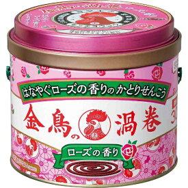 金鳥の渦巻 ローズの香り 30巻〔蚊取り線香〕大日本除虫菊 KINCHO