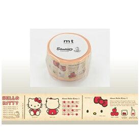 カモ井加工紙 KAMOI mt マスキングテープ mt×サンリオ 図鑑・ハローキティ MTSARI03