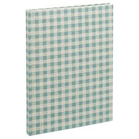 ナカバヤシ Nakabayashi B5サイズ ブック式フリーアルバム/100年台紙 ナチュラルチェック(ブルー) アH-B5B-172-B[アHB5B172B]