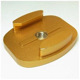 GOBROS. ゴブロス 三脚用 アルミ・フラットマウント -Standard(ゴールド) GB0109[GB0109]