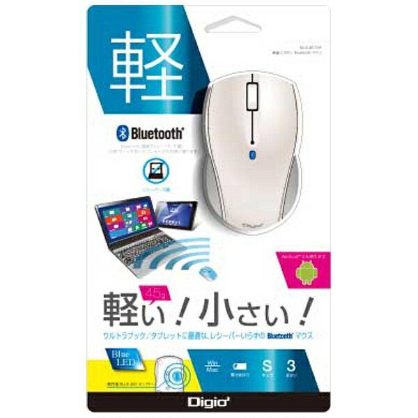 ナカバヤシ 【スマホ/タブレット対応】ワイヤレスBlueLEDマウス[Bluetooth3.0・Android/Mac/Win] Sサイズ (3ボタン・ホワイト) MUS-BKT99W[MUSBKT99W]