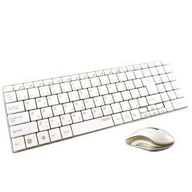 UNIQ 9160 ワイヤレスキーボード・マウス rapoo ゴールド [USB /ワイヤレス ][9160]