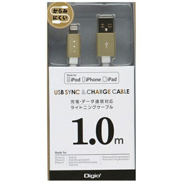 ナカバヤシ iPad / iPad mini / iPhone / iPod対応 Lightning ⇔ USBケーブル 充電・転送 (1m・ゴールド) MFi認証 LNC-F10GL[LNCF10GL]