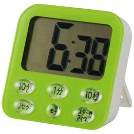 オーム電機 OHM ELECTRIC 時計付き大画面 デジタルタイマー COK-T140-G グリーン[COKT140G]
