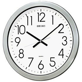 セイコー SEIKO 防湿・防塵型掛け時計 オフィスタイプ シルバー KH407S