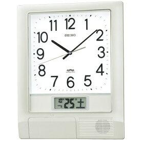 セイコー SEIKO 掛け時計 【プログラムクロック】 銀色メタリック PT201S [電波自動受信機能有]