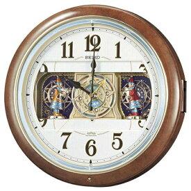 セイコー SEIKO からくり時計 【ウェーブシンフォニー】 茶マーブル模様 RE559H [電波自動受信機能有]