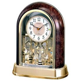 リズム時計 RHYTHM 置き時計 【パルドリームR656】 木目 4RY656-023 [電波自動受信機能有][4RY656023]