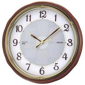 セイコー SEIKO 掛け時計 【ソーラープラス】 茶木地 SF221B [電波自動受信機能有]