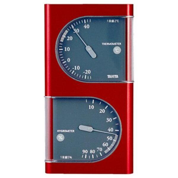 タニタ 温湿度計 TT-518-MR(メタリックレッド)[TT518MR]
