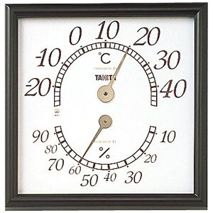 タニタ TANITA 5485 温湿度計 オフィスキング ブラウン [アナログ][5485BR]