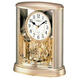 リズム時計 RHYTHM 置き時計 サルーン 金色 4SG724-018[4SG724018]