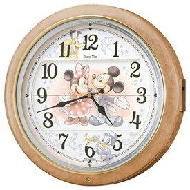 セイコー SEIKO からくり時計 【Disney Time(ディズニータイム)ミッキー&フレンズ】 薄茶マーブル模様 FW561A [電波自動受信機能有]