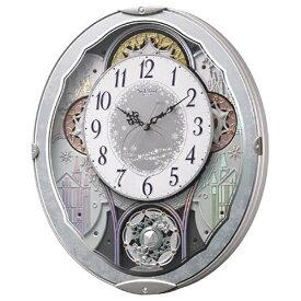 リズム時計 RHYTHM からくり時計 【スモールワールドビスト】 青 4MN537RH04 [電波自動受信機能有][4MN537RH04]