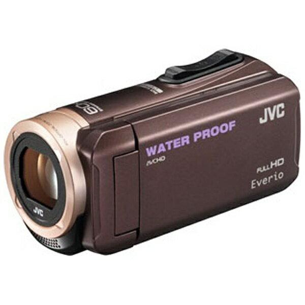 【送料無料】 JVC SD対応 8GBメモリー内蔵 5m防水・防塵・耐衝撃フルハイビジョンビデオカメラ(ブラウン) GZ-R280-T[GZR280]
