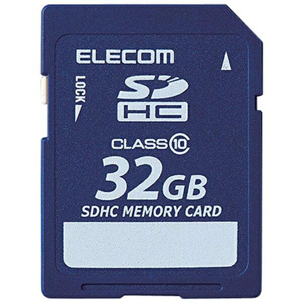 エレコム 32GB・Class10対応 データ復旧サービス付きSDHCカード MF-FSD032GC10R[MFFSD032GC10R]