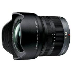 パナソニック Panasonic カメラレンズ LUMIX G VARIO 7-14mm/F4.0 ASPH. LUMIX(ルミックス) ブラック H-F007014 [マイクロフォーサーズ /ズームレンズ][HF007014]