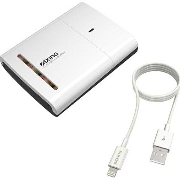 多摩電子工業 Tama Electric TID33L モバイルバッテリー ホワイト [1ポート /Lightning /乾電池タイプ]