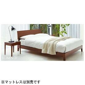 日本ベッド NIHON BED 【フレームのみ】収納なし ソムノ[レッグ](セミダブルサイズ/ブラウン)【日本製】【受注生産につきキャンセル・返品不可】 【代金引換配送不可】