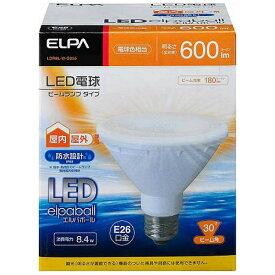 ELPA エルパ LDR8L-W-G055 LED電球 防水仕様 LEDエルパボール ホワイト [E26 /電球色 /1個 /ビームランプ形 /下方向タイプ][LDR8LWG055]