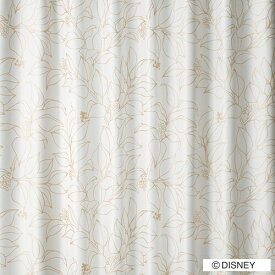スミノエ SUMINOE ドレープカーテン ミッキー/スリップリーフ(100×135cm/ゴールド)【日本製】[M1125100X135]