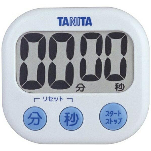 タニタ デジタルタイマー 「でか見えタイマー」 TD-384-WH ホワイト[TD384WH]