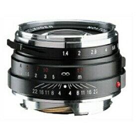 フォクトレンダー Voigtlander カメラレンズ 40mm F1.4 MC(マルチコート) NOKTON Classic Series(ノクトン クラシックシリーズ) ブラック [ライカM /単焦点レンズ][ノクトン40MMF14] 【メーカー直送・代金引換不可・時間指定・返品不可】