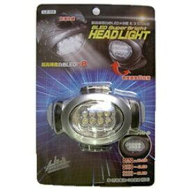 ヤザワ YAZAWA ヘッドライト ブラック×シルバー LZ03 [LED /単4乾電池×3 /防水]