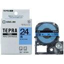 キングジム KING JIM テプラ(TEPRA) カラーラベルテープ(青テープ/黒文字/24mm幅) SC24B