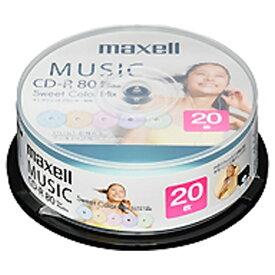 マクセル Maxell 音楽用CD-R CDRA80PSM.20SP [20枚 /インクジェットプリンター対応]