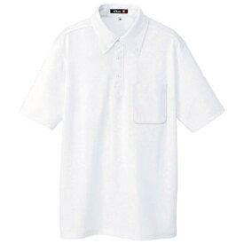アイトス AITOZ ボタンダウン半袖ポロシャツ ホワイト M 10599001M