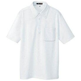 アイトス AITOZ ボタンダウン半袖ポロシャツ ホワイト S 10599001S