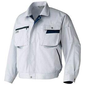 アイトス AITOZ ムービンカット 長袖ブルゾン シルバーグレー×ネイビー LL AZ6321003LL