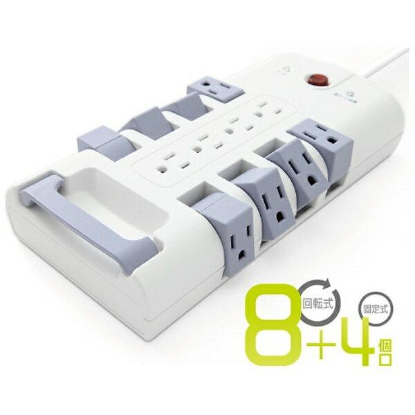 日商テレコム NISSHO TELECOM 可動式電源タップ (12個口[回転8+固定4]) S9PC01RB[S9PC01RB]