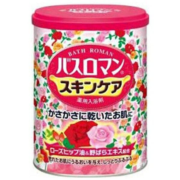 アース製薬 バスロマン スキンケア ローズヒップ油&野ばら 680g〔入浴剤〕