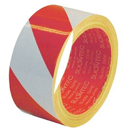 マクセル Maxell 危険表示用反射テープ 45mm×10m(赤/白) 965101RW0045X10《※画像はイメージです。実際の商品とは異なります》