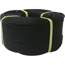 ユタカメイク YUTAKA ロープ PEロープ巻物 6φ×200m ブラック PE104