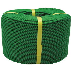 ユタカメイク YUTAKA ロープ PEロープ巻物 3φ×200m グリーン PE73