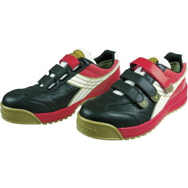 ドンケル DONKEL DIADORA 安全作業靴 ロビン 黒/白/赤 27.5cm RB213275