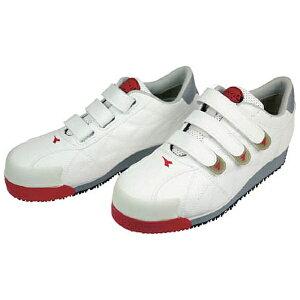 ドンケル DONKEL DIADORA 安全作業靴 アイビス 白 25.0cm IB11250
