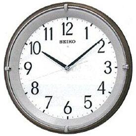 セイコー SEIKO 掛け時計 茶メタリック KX203B [電波自動受信機能有]