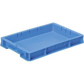 DICプラスチック ディーアイシープラスチック F型コンテナF-4 外寸:W424×D291×H56 青 F4