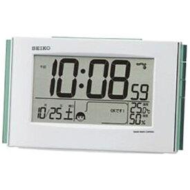 セイコー SEIKO 目覚まし時計 【快適環境NAVI】 白パール SQ776W [デジタル /電波自動受信機能有]