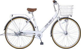 タマコシ Tamakoshi 27型 自転車 ルイスアミューズ273HD(ホワイト/3段変速)【組立商品につき返品不可】 【代金引換配送不可】