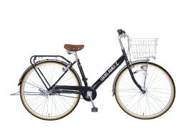 タマコシ Tamakoshi 27型 自転車 ルイスアミューズ273HD(ブラック/3段変速)【組立商品につき返品不可】 【代金引換配送不可】