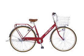 タマコシ Tamakoshi 27型 自転車 ルイスアミューズ273HD(レッド/3段変速)【組立商品につき返品不可】 【代金引換配送不可】