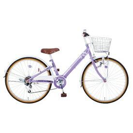 タマコシ Tamakoshi 22型 子供用自転車 マハロジュニアV226(パープル/6段変速)【組立商品につき返品不可】 【代金引換配送不可】