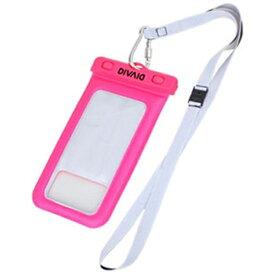HAMEE ハミィ スマートフォン用[幅 102mm/5.8インチ] DIVAID フローティング防水ケース ピンク