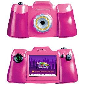 クロスワン x1 KIDS-CAMERA X3000 トイカメラ ピンク [デジタル式][CROSSX3000PK]