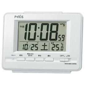 セイコー SEIKO 目覚まし時計 白パール NR535H [デジタル /電波自動受信機能有]